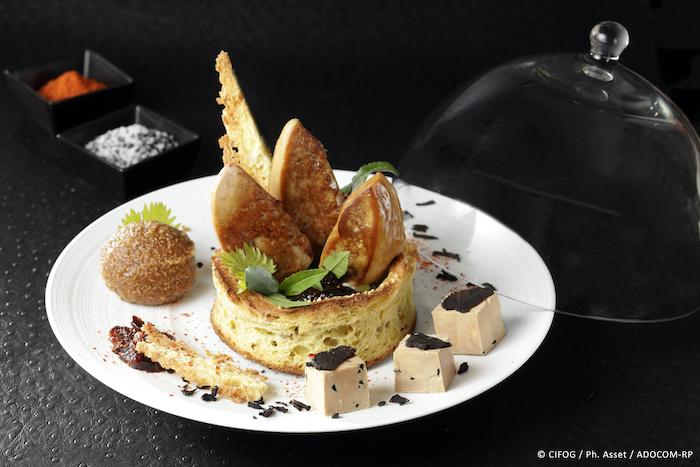 Couronne de foie gras poêlé