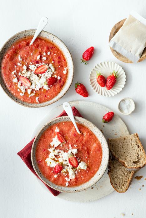 recette de Soupe froide de tomate et poivron