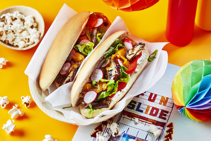 Hot-dog végé aux légumes