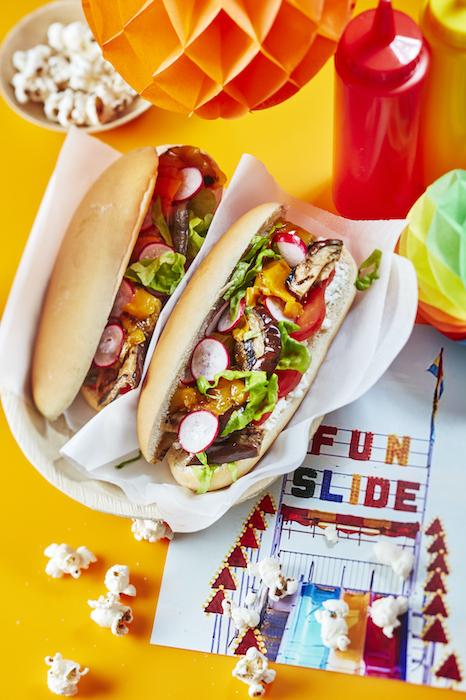 recette de Hot-dog végé aux légumes