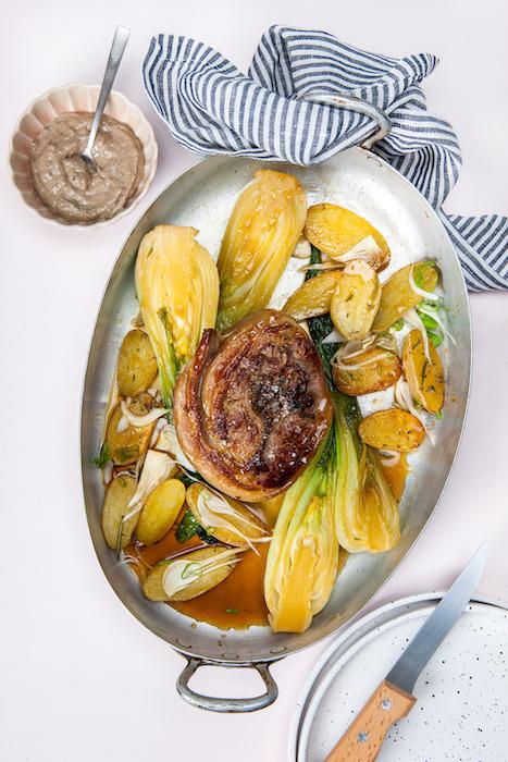 recette de Lamp chops et pak-choï grillés