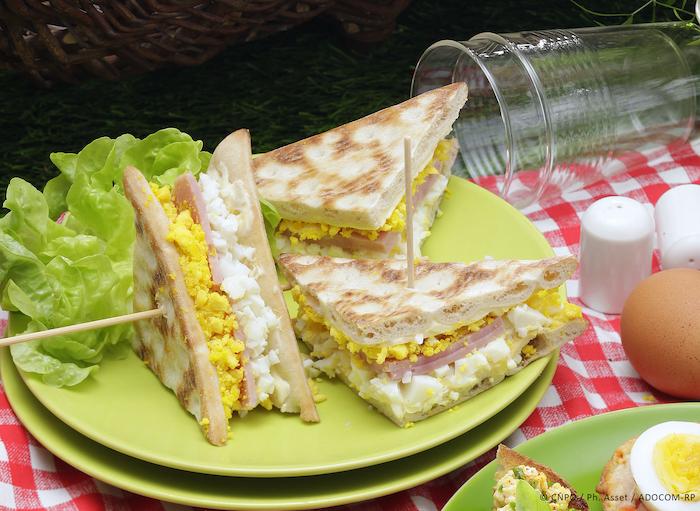 recette de Club sandwich aux œufs mimosa