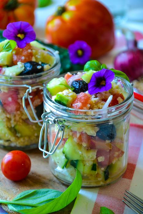 recette de Salade grecque revisitée au boulgour