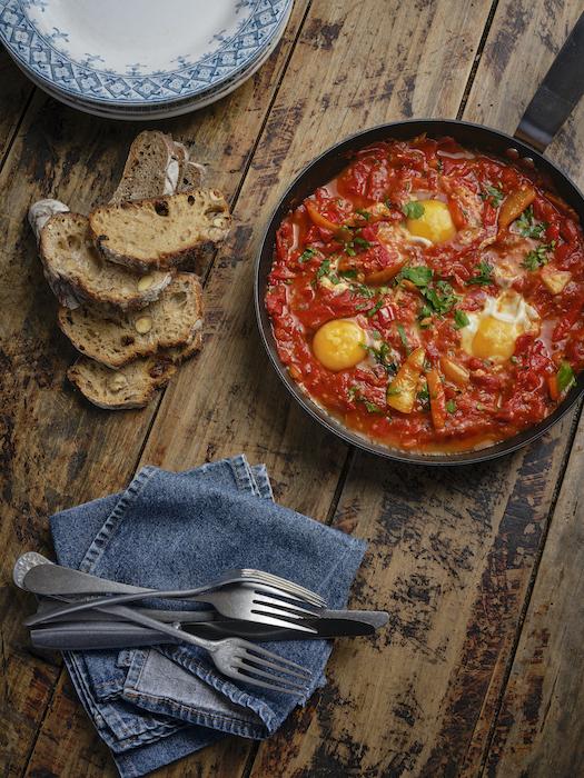 recette de Shakshouka de tomates Romaine