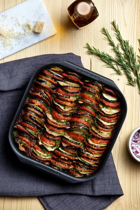 recette de Tian de légumes à la sauce tomate