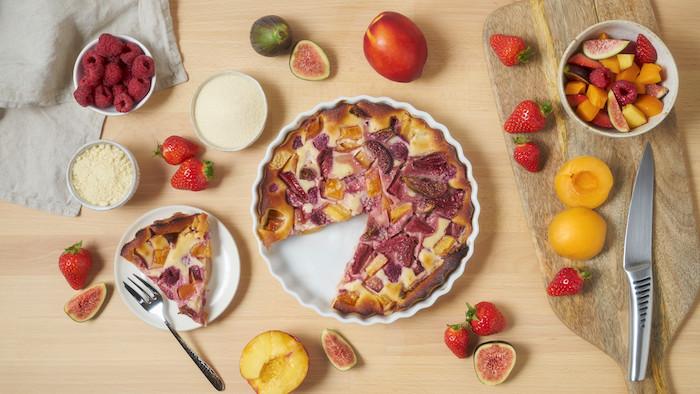 recette de Clafoutis aux fruits d'été