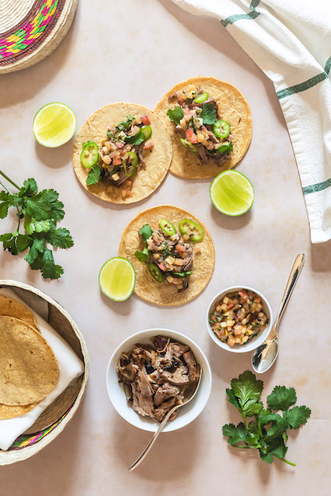 recette de Tacos d'échine de porc