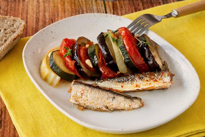 Tian de tomates aux sardines