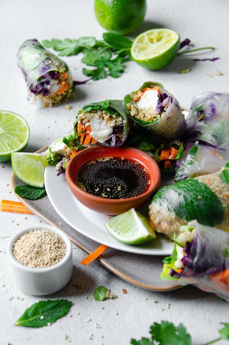 recette de Rouleaux de printemps végétariens au quinoa
