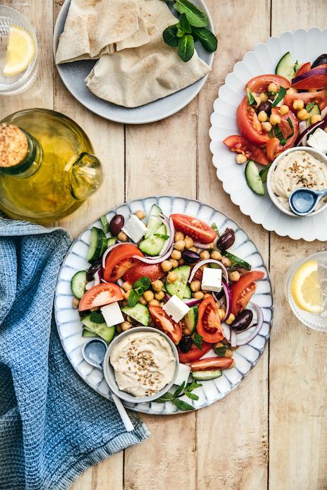 recette de Salade de pois chiches à la grecque