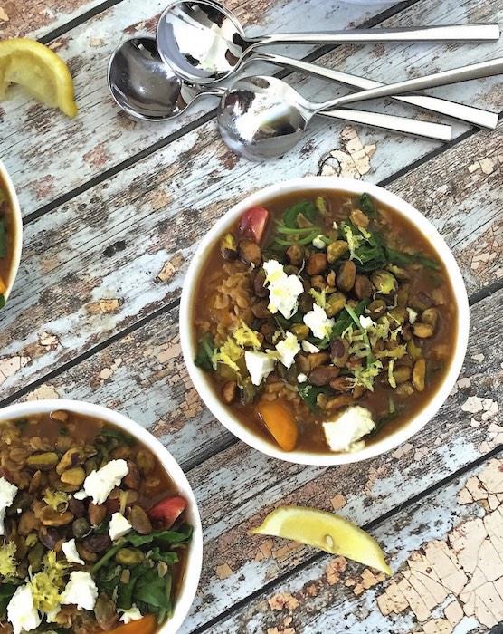 recette de Gruau salé aux pistaches