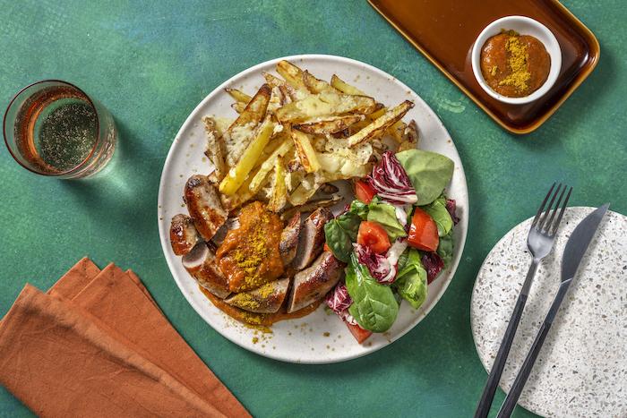 recette de Curry wurst berlinoise