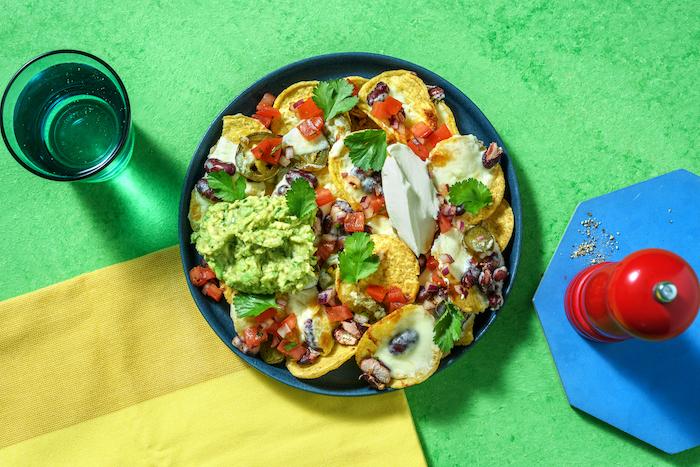 recette de Nachos à la mexicaine au guacamole