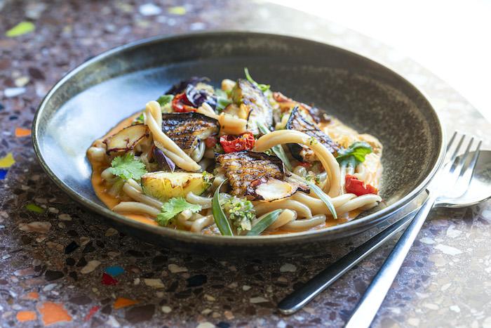 recette de Casarecce au poulpe et bouillon thaï