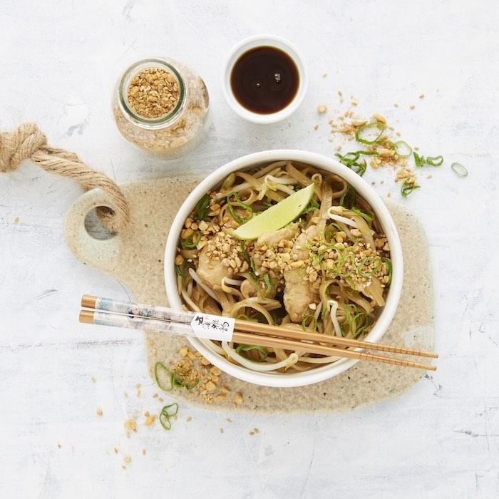 recette de Pad thaï au poulet