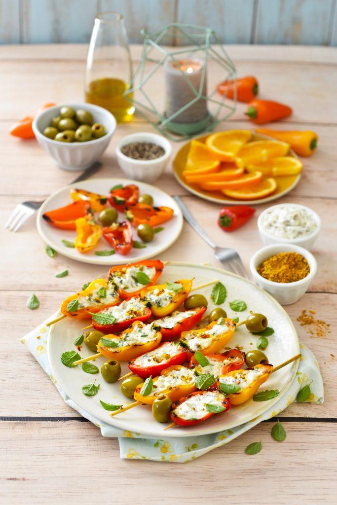 recette de Mini-poivrons à la grecque