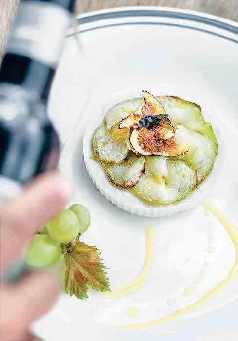 recette de Ricotta aux courgettes et aux figues