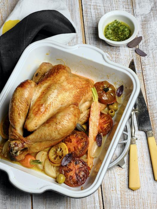 recette de Poulet rôti aux Marquises noires