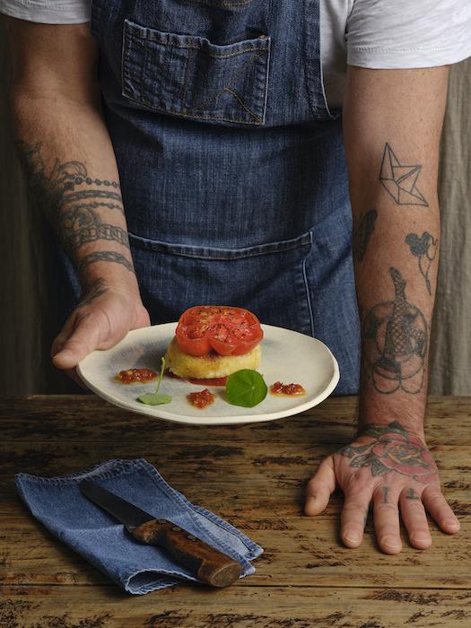 recette de Burger de tomate à la mozzarella panée