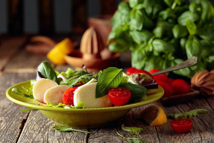 recette de Salade de roquette à la mozzarella