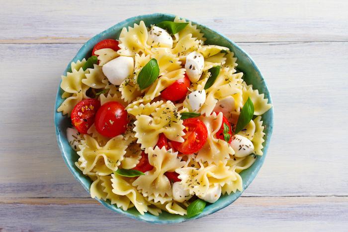 recette de Salade estivale de pâtes aux Mozzarelline