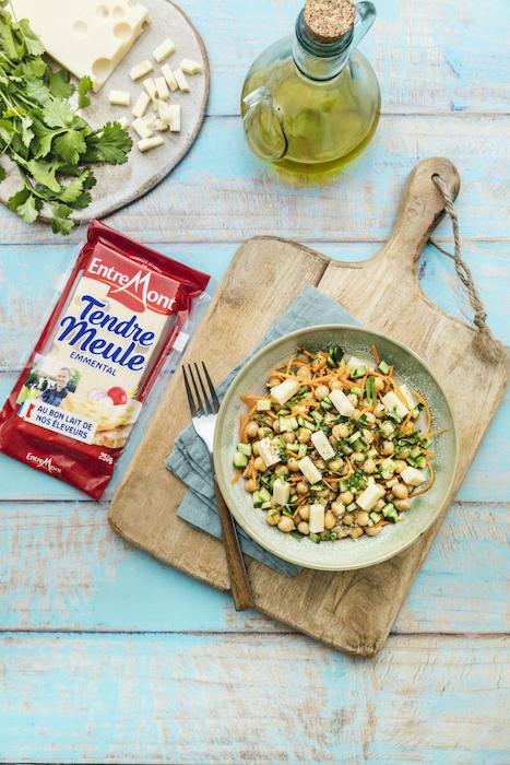 recette de Salade de pois chiches à l'Emmental