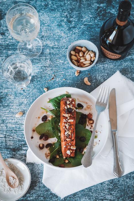 recette de Pavés de saumon caramélisés au vinaigre