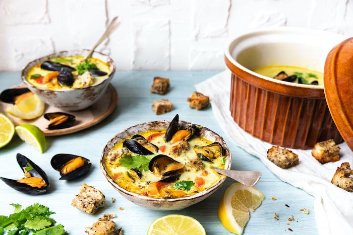 recette de Soupe de moules au bouillon provençal