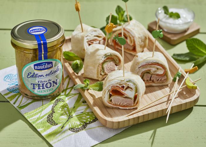 recette de Wraps de thon à la menthe