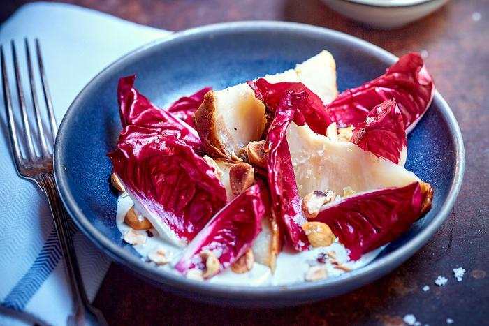 Céleri rôti à la sauce gorgonzola