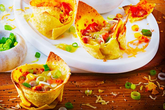 Mini enchiladas gratinées aux fromages