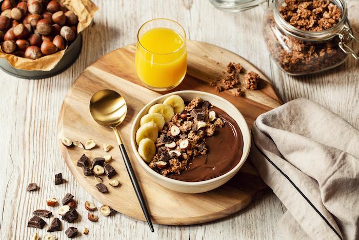 Granola bowl chocolat et noisettes