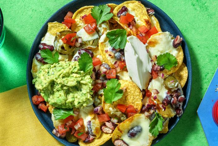 Nachos à la mexicaine au guacamole
