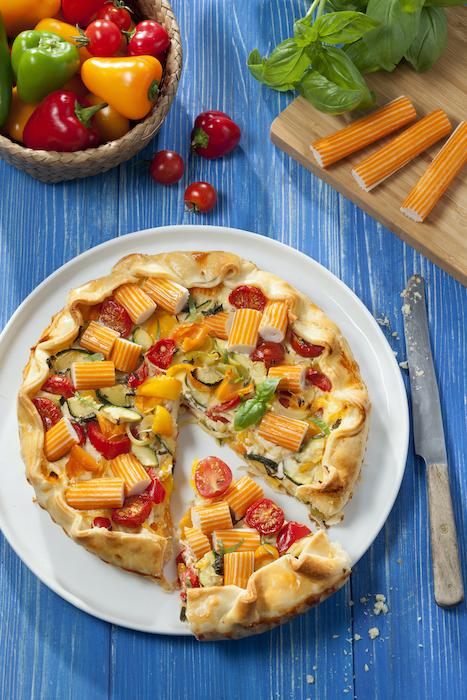 recette de Tarte au surimi