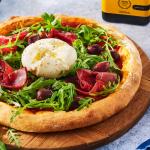 Pizza tomate burrata et roquette