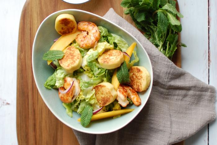 Salade de quenelles de brochet aux crevettes