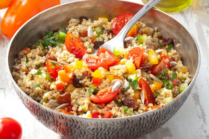Taboulé de quinoa parfumé à l'orientale