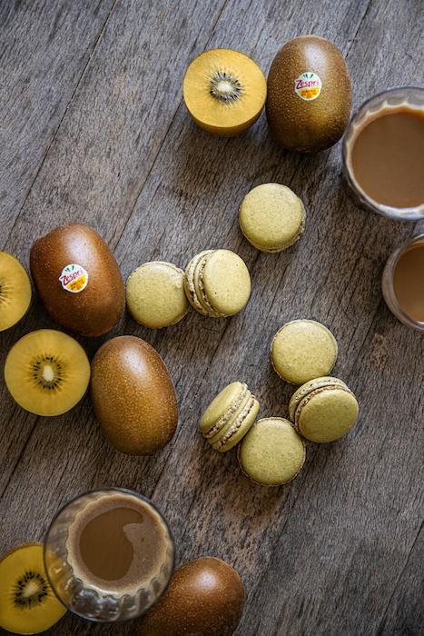 recette de Macarons aux kiwis
