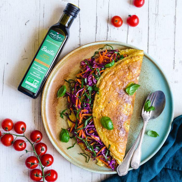 recette d'Omelette roulée aux crudités
