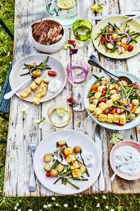 recette de Salade de pommes de terre et haricots