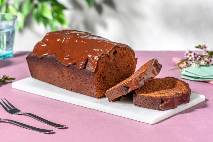 Cake au chocolat nappé de chocolat