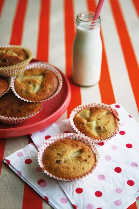 recette de Muffins aux poires et aux noix
