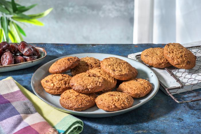 recette de Cookies à l'avoine et au beurre de cacahuètes