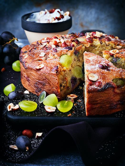 recette de Gâteau d'automne aux raisins et noisettes