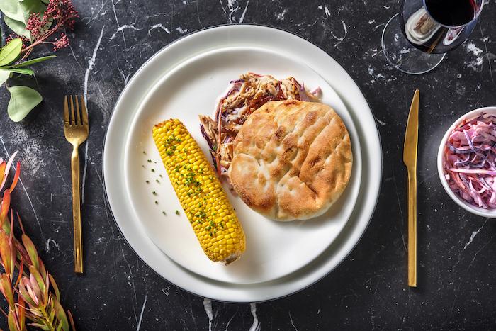 recette de Sandwich au poulet effiloché