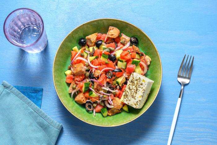 recette de Salade de tomates et feta à la crétoise
