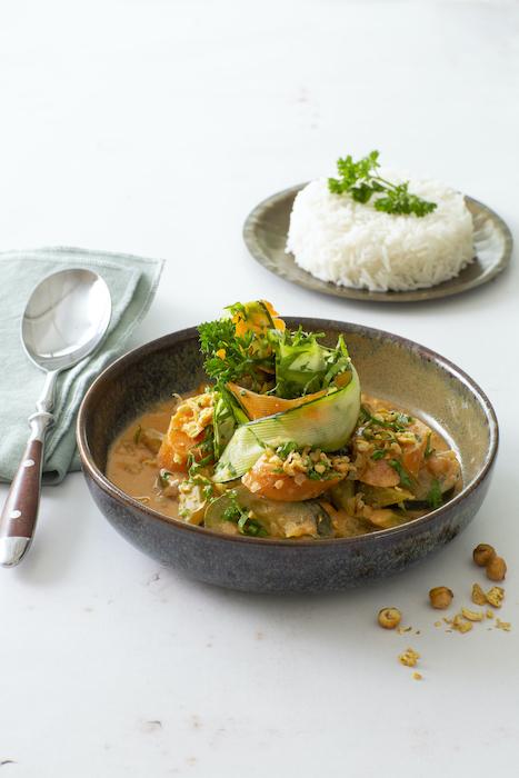 recette de Curry de légumes thaï