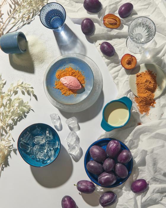 recette de Glace aux prunes bleues