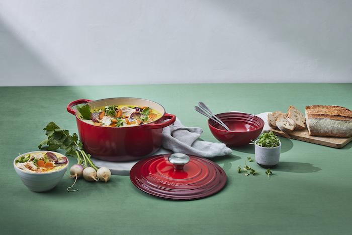 recette de Soupe crémeuse au poulet et aux légumes