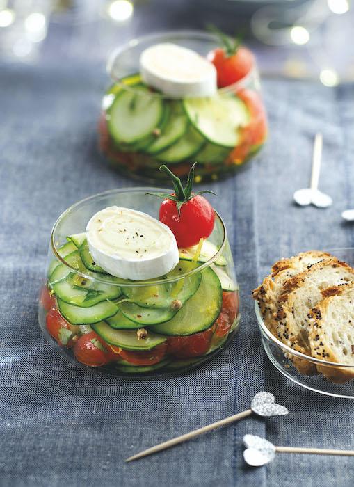 recette de Carpaccio de courgettes marinées aux tomates